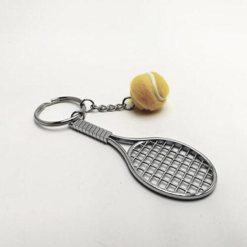 Tennisracket en bal geel