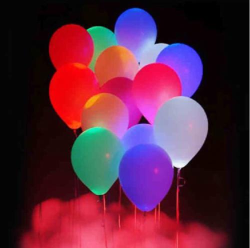 Ballonnen met LED verlichting