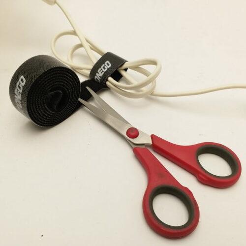 Klitteband Kabelbinder Zwart Voorbeeld